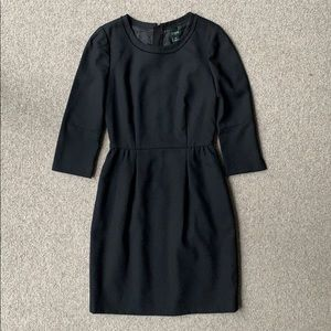 J Crew factory black crepe dress. Size 00.
